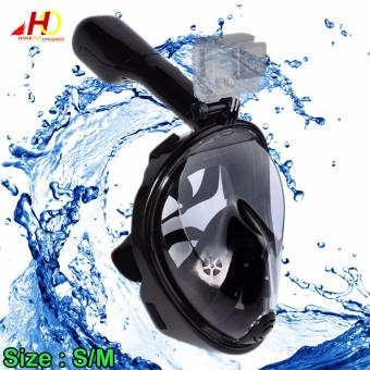 Full Face Snorkeling Mask For GoPro & Action Cameras S/M (Black)