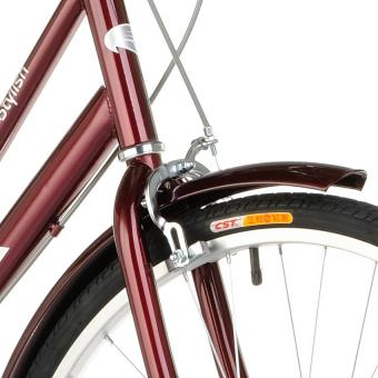 Fushida TS 26 x 1-3/8 City Cruiser Bike (Gloss Pearlized Maroon) - 2