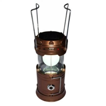 GD-5800 6 LED Solar Camping Lamp Rechargeable Lantern (Gold)