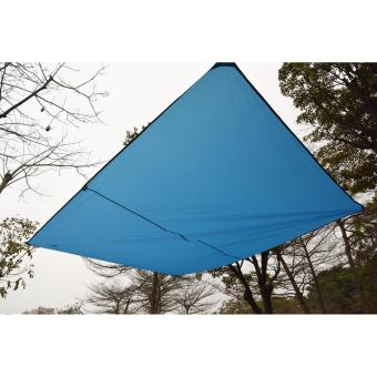 Geertop Lightweight Camping Backpacking Hiking Waterproof Tent TarpGeound Sheet Footprint Camping Mat Rain Fly Hammock Shelter withGuy Lines and Pegs - 4
