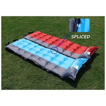 GEERTOP Self-Inflating Camp Pad Mat Mattress With Pillow 5cm ExtraThick Lightweight - For Camping Backpacking Tents - Can be SPLICED- Red - 5