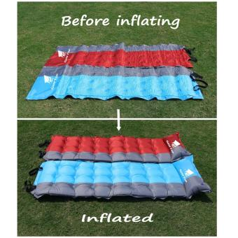 GEERTOP Self-Inflating Camp Pad Mat Mattress With Pillow 5cm ExtraThick Lightweight - For Camping Backpacking Tents - Can be SPLICED- Red - 2