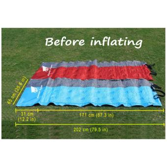 GEERTOP Self-Inflating Camp Pad Mat Mattress With Pillow 5cm ExtraThick Lightweight - For Camping Backpacking Tents - Can be SPLICED- Red - 3