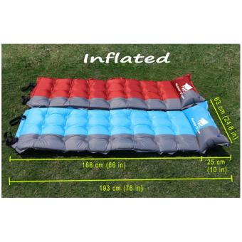 GEERTOP Self-Inflating Camp Pad Mat Mattress With Pillow 5cm ExtraThick Lightweight - For Camping Backpacking Tents - Can be SPLICED- Red - 4