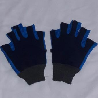 Gloves anti skid Cloth design color Blue Washable for Bicycle/ Motorcycle