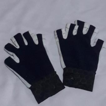 Gloves anti skid Cloth design color Navy Blue Washable for Bicycle/Motorcycle
