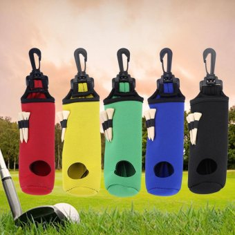 Golf Ball Bag Holder Utility Pouch Accessories With Clip (Black) -intl - 2