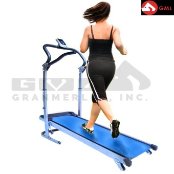 Granmerlen Fold-able Indoors Manual Treadmill (Blue) Price Philippines