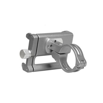 GUB G-85 Metal Bike Bicycle Holder Motorcycle Handle Phone Mount Handlebar Extender Phone Holder For iPhone Cellphone GPS Etc SILVER - intl - 4