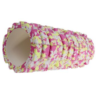 Gym Exercise Fitness Floating Point EVA Yoga Foam Roller Physio Massage Pilates Pink - picture 3