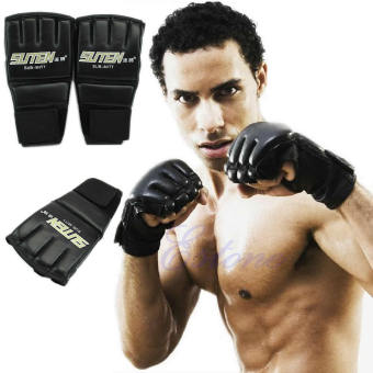 Gym MMA Muay Thai Training Punching Bag Half Mitts Sparring Boxing Gloves - intl