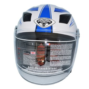 Half Face Motorcycle Helmet RXR 007-B (White Blue)