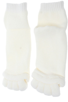 HANG-QIAO Keep-fit Massage Toesocks (White) - picture 2