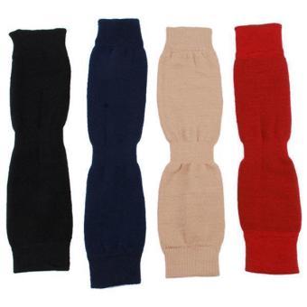Hang-Qiao Women Winter Wool Leg Warmers Knee Thigh Socks Beige - picture 2