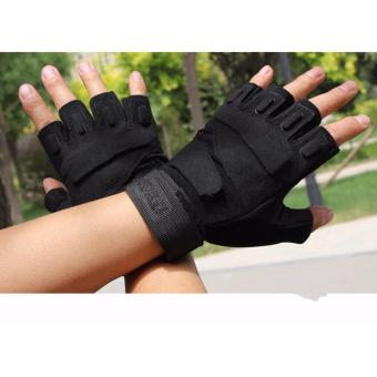 Hanyu Cycling Riding Tactical Mittens(Black)
