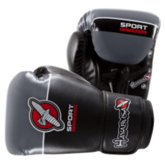 Hayabusa Sport Boxing Gloves 12Oz (Black/Grey)