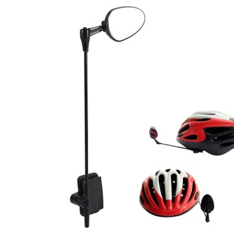 Helmet Rear View Mirror Adjustable Safety Mountain Road Bike Mirror- intl