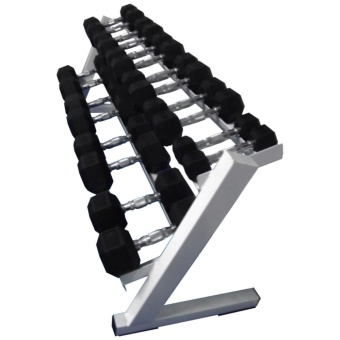 Hex Dumbbells with Rack 5 to 50lbs.