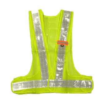 Hi-Viz Reflector Safety Vest with ID Holder (Yellow Green)