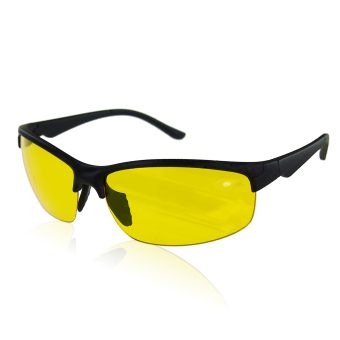 High Definition Running Riding Night Vision Glasses (Yellow) - INTL