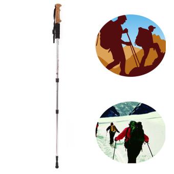 Hiking Walking Trekking Trail Poles Ultralight 3-section AdjustableCanes - intl - 2