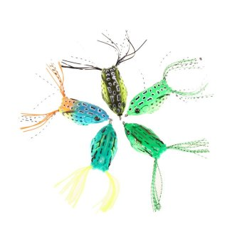 HKS 5 Frog Lure Bass Fishing Hooks Bait 5.5cm - Intl