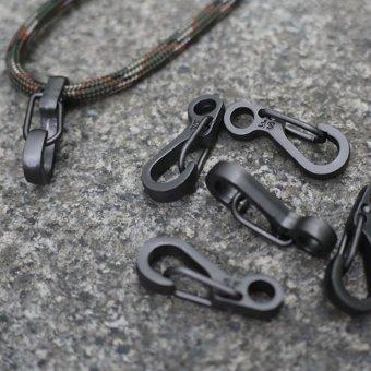HKS 5PCS New Alloy Nickel-free Plating Key Ring Mini Spring Buckle Random Color - Intl