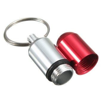 HKS Aluminum Medicine Pill Box Case Bottle Holder Container Keychain - Intl - picture 4
