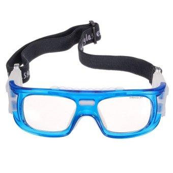 HKS Basketball Soccer Football Sports Protective Elastic Goggles Eye Safety Glasses Blue - Intl