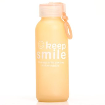 HKS Colorful Frosted Glass 300Ml Portable Smile - Intl