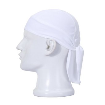 HKS Cool Cycling Bike Bicycle Outdoor Sports Headscarf Pirate Bandana Hat 11 Colors White - Intl