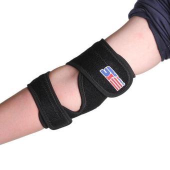 HKS Elbow Elastic Pad Brace Support Wrap Black - Intl - picture 2