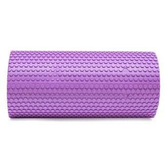 HKS High Density Floating Point Foam Yoga Massage Roller Fitness/Physio/Gym (Purple) - Intl