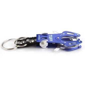 HKS Outdoor Hiking Climb Hook Carabiner Clip Lock Keyring Keychain Blue - Intl