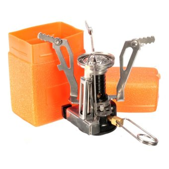 HKS Portable Outdoor Picnic Gas Burner Foldable Hiking Camping Mini Steel Stove Case - Intl - picture 2