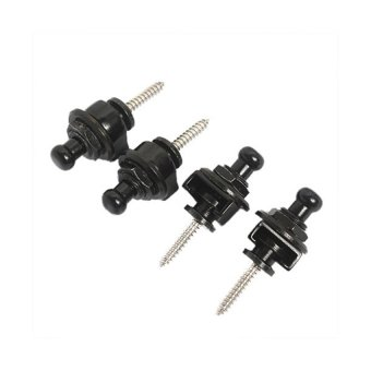 HKS Round Head Strap Locks for Electric Acoustic Guitar Bass 4-Piece Set (Black) outdoor adventure - Intl - picture 3