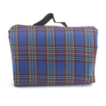 HKS Tartan Picnic Mat Rug Blanket (Blue) outdoor adventure - Intl
