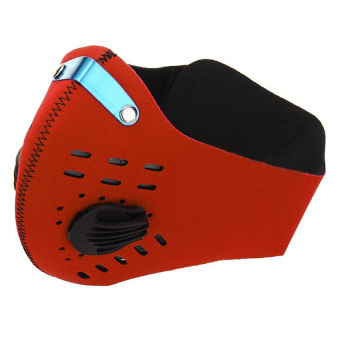 HuoLaLa Bike Cycling Bicycle Ski Anti-dust Half Face Mask with filter Red - INTL