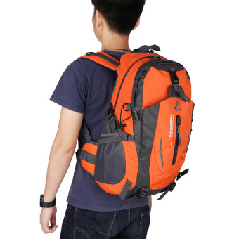 Harga Free knight 005 Outdoor Sports Backpack Hiking Camping Waterproof Nylon Bag 40L(Orange) - Intl