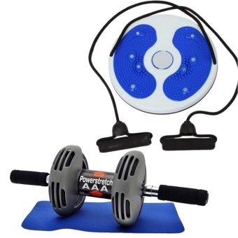 Power Stretch Roller Total Body Exerciser with Training Massage Foot Twister Trimmer Board(Colors may vary) Price Philippines