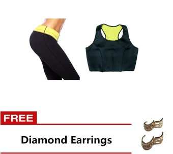 Harga Sport Suit Fat Blaster L Set (Black) Free Diamond Earrings