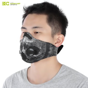 Harga BaseCamp Unisex Anti-dust Anti-pollution Air Filter Breathable Face Mask for Cycling Riding Hiking