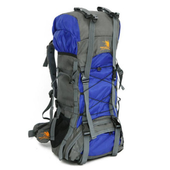 Harga Free Knight 60L extra large Waterproof Nylon Outdoor Sports Professional Climbing Hiking mountianeering Backpack Travel Bags(Blue)