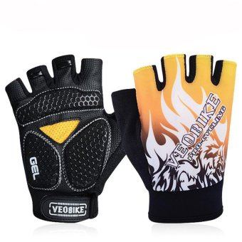 Professional Silicone Breathable Mountain Bike Riding Gloves Yellow/ Black Price Philippines