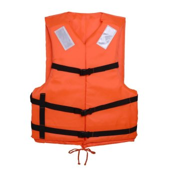 Harga Orange Adult Flood Foam Life Jacket Swimming Life Vest With Reflective Strap and Whistle - intl