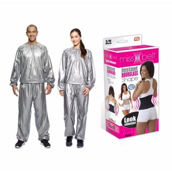 G@Best Unisex Sauna Suit With Miss Belt Instant Hourglass Body Shaper (Medium) Price Philippines