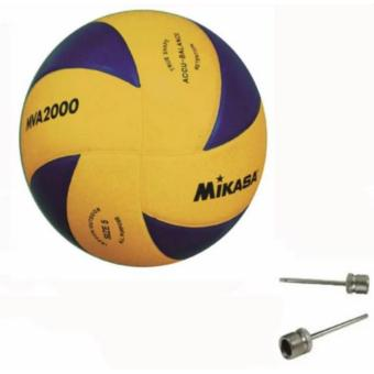 Harga Mikasa MVA 2000 Volleyball (Yellow/Blue) free 2pcs Volleyball Pin