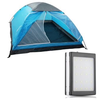 Lightweight 10 Person Camping Backpacking Tent with Carry Bag (Multicolor) with Pinoy Puff 50000mah Solar Charger Powerbak with 20-LED Camping Light (black) Price Philippines