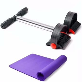 Harga Tummy Trimmer (Black) with Yoga Mat 68x24 Color May Vary