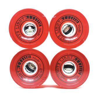 Big H 70mm 80a Whitelights LED Wheels in Red Price Philippines
